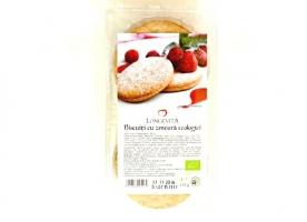 Biscuiti cu crema de zmeura eco