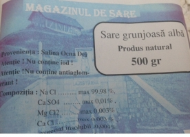 Sare grunjoasa alba, 500g