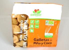 Fursecuri bio, cu ananas si cocos, fara gluten