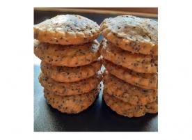 Mini biscuiti integrali einkorn cu capsuni